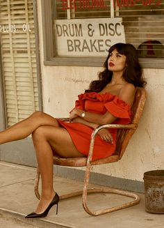 Jameela Jamil photographed by John Tsiavis for Vera Attractive People, Outfit Of The Day, Beachwear, Swimwear, Beautiful People, Wonder Woman, Street Style, Legs, Superhero