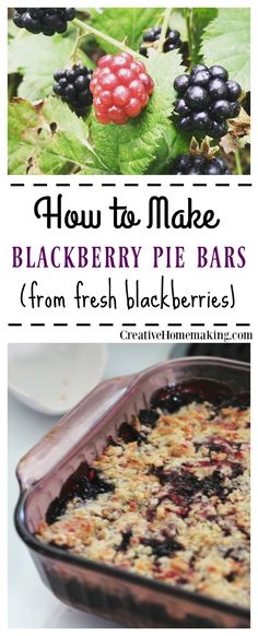 These blackberry pie bars are an easy, delicious summer dessert to make from fresh blackberries.