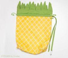 Pineapple Drawstring Backpack | Make It and Love It