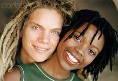 Beautiful interracial couple