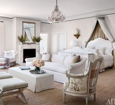 Love an all white bedroom