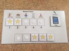 Check out Behavior chart Reward chart autism visual aid behavior token positive reinforcement ABA behavior reinforcer chart special education teacher on learningsped Behavior Rewards, Behaviour Management, Classroom Behavior, Autism Classroom, Special Education Classroom, Autism Education, Education Jobs, Higher Education, Behavior Interventions