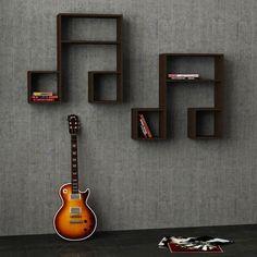 Music studio room diy shelves 38 new Ideas Music Furniture, Diy Furniture, Furniture Stores, Music Themed Rooms, Music Bedroom, Music Theme Bedrooms, Music Studio Room, Guitar Room, Buch Design