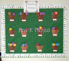 Birthday bulletin board for flower themed classroom