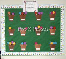 Birthday bulletin board for flower themed classroom