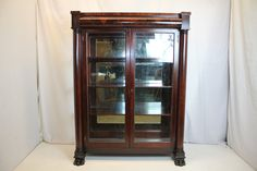 Outstanding Empire China Curio Cabinet, Circa 1830s',by GEO. C. FLINT New York. | eBay