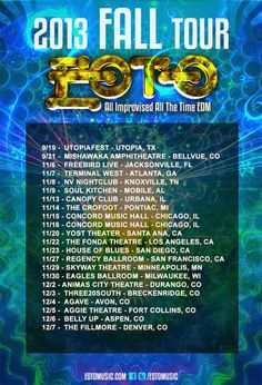 """EOTO """"All Improvised All The Time EDM"""" Fall Tour 2013"""
