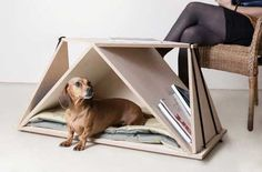 Nidin Coffee Table and Dog Den from Fabbricabois - Dog Milk