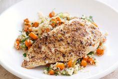 Dukkah chicken with quinoa