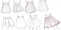 how to draw a pleated skirt - Google Search
