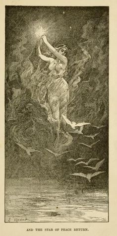 venusmilk:    The blue poetry book (1912)illustrations by Henry Justice Ford & Lancelot SpeedAnd the star of peace return