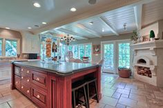 Gorgeous kitchen complete with it's own brick oven!
