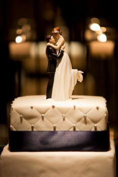 Wedding cake topper at The Fairmont Hotel in Washington, D.C.   ~    http://weddings.garretthubbard.com/galleries/funny-wedding-cake-topper-at-the-fairmont-hotel/