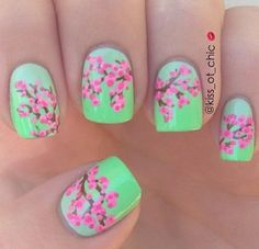 Cherry blossom nails floral
