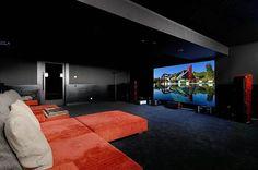 Home Theater. Spectacular La Moraleja Modern Chalet in Madrid - CAANdesign