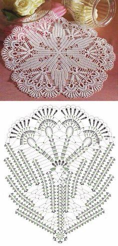 Captivating All About Crochet Ideas. Awe Inspiring All About Crochet Ideas. Crochet Doily Diagram, Crochet Doily Patterns, Crochet Mandala, Crochet Chart, Thread Crochet, Crochet Designs, Crochet Stitches, Rug Patterns, Crochet Dollies