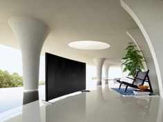 Sony's First Curved 4K TV