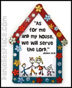 """""""We will serve the Lord"""" Craft Stick Bible Craft for Sunday School from www.daniellesplace.com"""