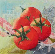 "Still Life Artists of Colorado: ""Cherry Tomatoes"" original mixed media still life with tomatoes © Saundra Lane Galloway Still Life Artists, Cherry Tomatoes, Colorado, Mixed Media, Ads, The Originals, Architecture, Arquitetura, Aspen Colorado"