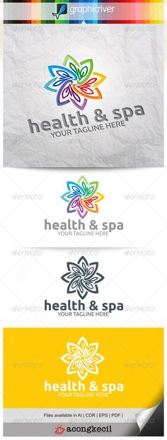 Health & Spa V.4 — Vector EPS #abstract #shape • Available here → https://graphicriver.net/item/health-spa-v4/8240689?ref=pxcr