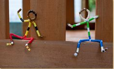 Use melty beads to create figurines and puppets you can pose! Crafts To Do, Bead Crafts, Crafts For Kids, Hama Beads, Beading Tutorials, Beading Patterns, Pipe Cleaner Crafts, Pipe Cleaners, Diy Pipe