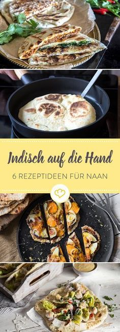 Herrlich locker und frisch duftend springt das indische Naan-Fladenbrot aus der … Wonderfully fluffy and freshly scented, the Indian naan flatbread rolls out of the pan and shows that it's more than just a side dish to the curry. Burger Recipes, Pizza Recipes, Vegetarian Recipes, Healthy Recipes, Delicious Recipes, Cake Recipes, Indian Food Recipes, Asian Recipes, Naan Flatbread