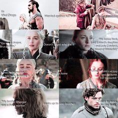 Sansa and Daenerys #GameofThrones #HouseStark #housetargaryen