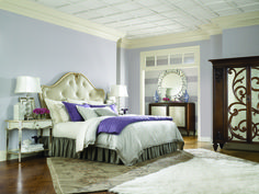 Get inspired by Glam Bedroom Design photo by Wayfair. Wayfair lets you find the designer products in the photo and get ideas from thousands of other Glam Bedroom Design photos. Mirrored Furniture, Bedroom Furniture, Mirrored Nightstand, Furniture Decor, Cheap Nightstand, Wolf Furniture, Nightstand Ideas, Belfort Furniture, Furniture Design