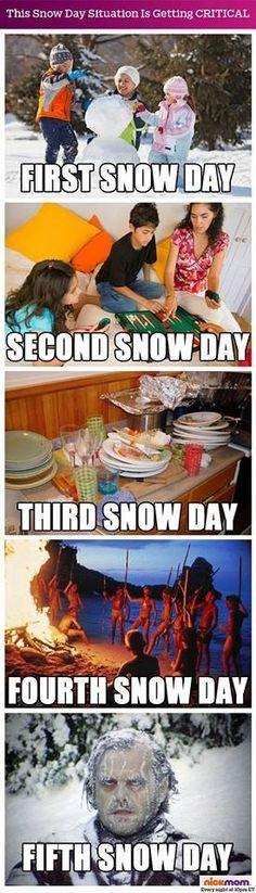 Snow days are cool unless you have too many of them. #snowdays