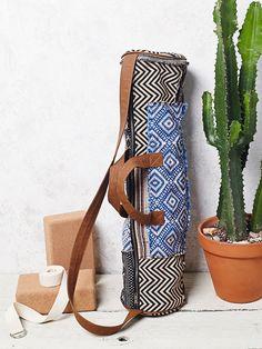 tribal inspired print yoga bag