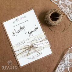 #convite #rustico #top #noiva #spazioconvites #wedding #casar #sisal #renda #brasão #monograma #marrom #krafit #spaziomidia #novidade #casamento  http://spazioconvites.com.br/loja/