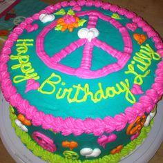 Peace sign cake @Kelly Teske Goldsworthy Teske Goldsworthy Lawing Smith