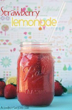 Homemade Strawberry Lemonade via @Lori Bearden Bearden Falcon