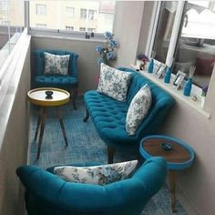 Apartment Patio Makeover Small Balconies 17 Ideas For 2019 Balcony Furniture, Furniture Layout, Garden Furniture, Furniture Design, Living Room Designs, Living Room Decor, Appartement Design, Patio Makeover, Balcony Design