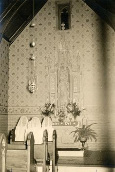 Sharon Convent, Sharon Hill, PA, 1864 - 1974. Photo of Our Lady Chapel.