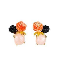 Cristaux de fleurs earrings