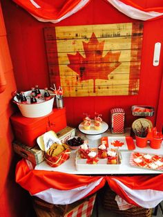 Fantastic vintage Canada Day party! See more party planning ideas at CatchMyParty.com!