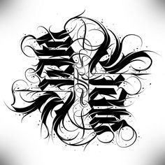 Tattoo Lettering Styles, Chicano Lettering, Graffiti Lettering Fonts, Graffiti Tattoo, Graffiti Drawing, Lettering Design, Noir Tattoo, Dark Tattoo, Tattoo Fonts Alphabet