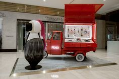 Check out the famous Fendi Ape truck and giant Karlito that have arrived at our boutique in Taiwan Xinyi A3.