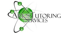 A tutoring services company with an atom logo. 3 rings represent the services offered: Science, English and Greek