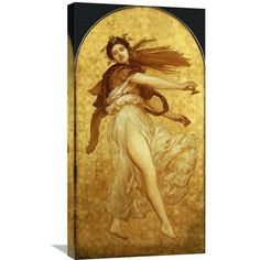 Global Gallery 'The Dance of The Cymbalists' by Lord Frederick Leighton Painting Print on Wrapped Canvas