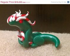 Candy Cane Dragon by AiryStyles on Etsy