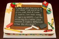 Cake Designs For Teachers Day : 1000+ images about teacher appreciation cakes on Pinterest ...