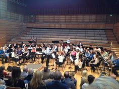 Trumpeter Kevin Dickens tunes the University Concert Band in the evening concert on Day Four of Summer Music Week. Image: Hannah Perrin