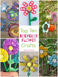 Top Ten Flower Recycle Crafts