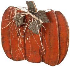 Wooden Pumpkin Garden Accent,