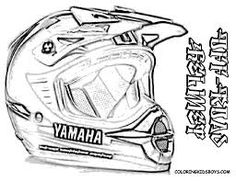 motorcycle helmet coloring page for adults