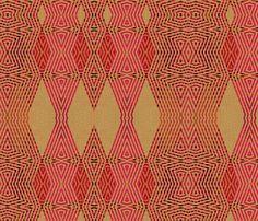 Ikat Pink Diamonds fabric by wren_leyland on Spoonflower - custom fabric
