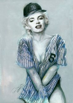 Portrait by poppicture  | This image first pinned to Marilyn Monroe Art board, here: http://pinterest.com/fairbanksgrafix/marilyn-monroe-art/ || #Art #MarilynMonroe