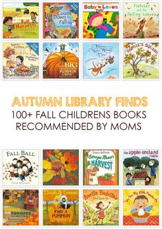 Awesome collection of children's picture books for fall *Reserving some of these autumn titles for the kids from the library right now!